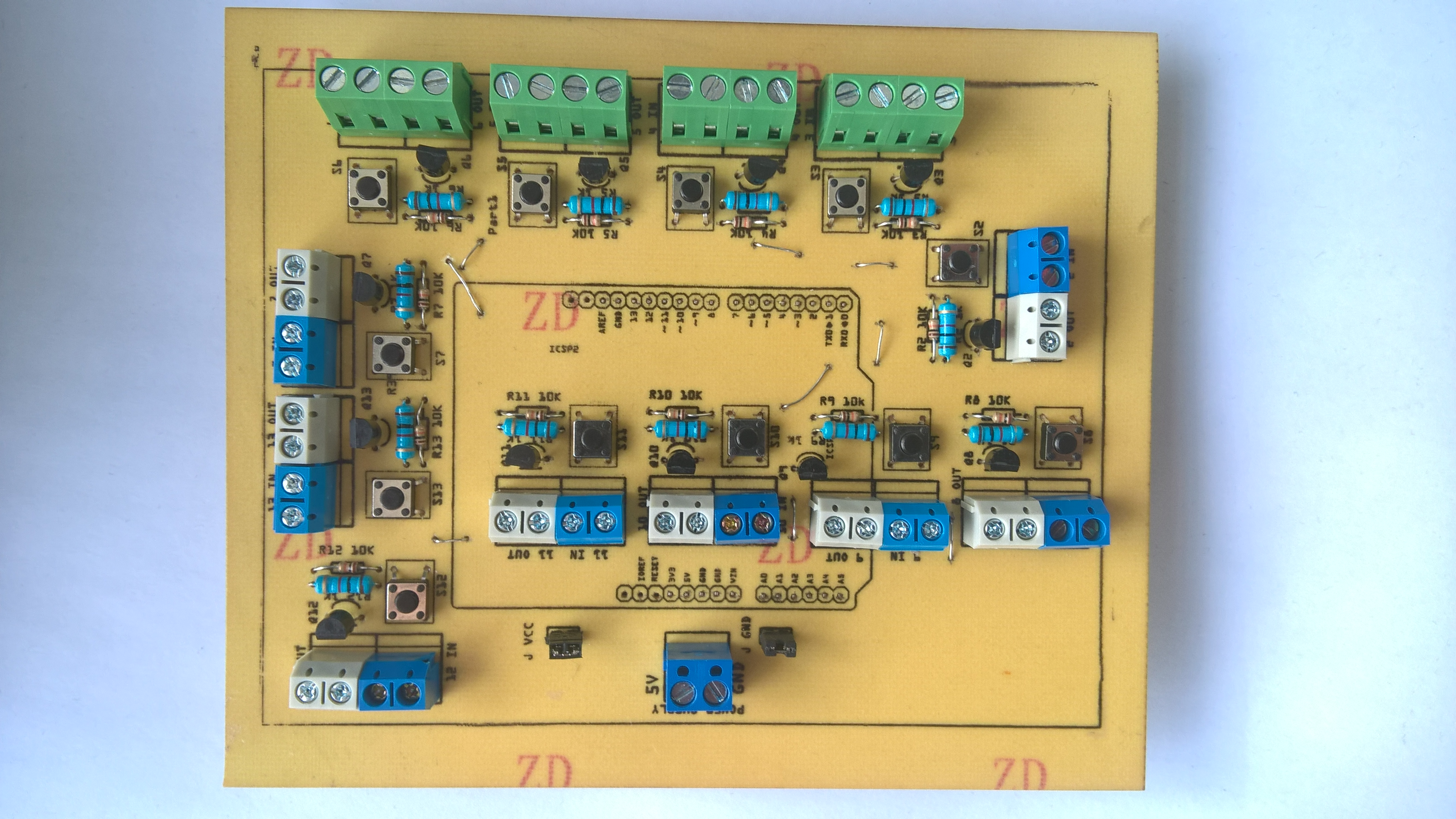 PCB with parts