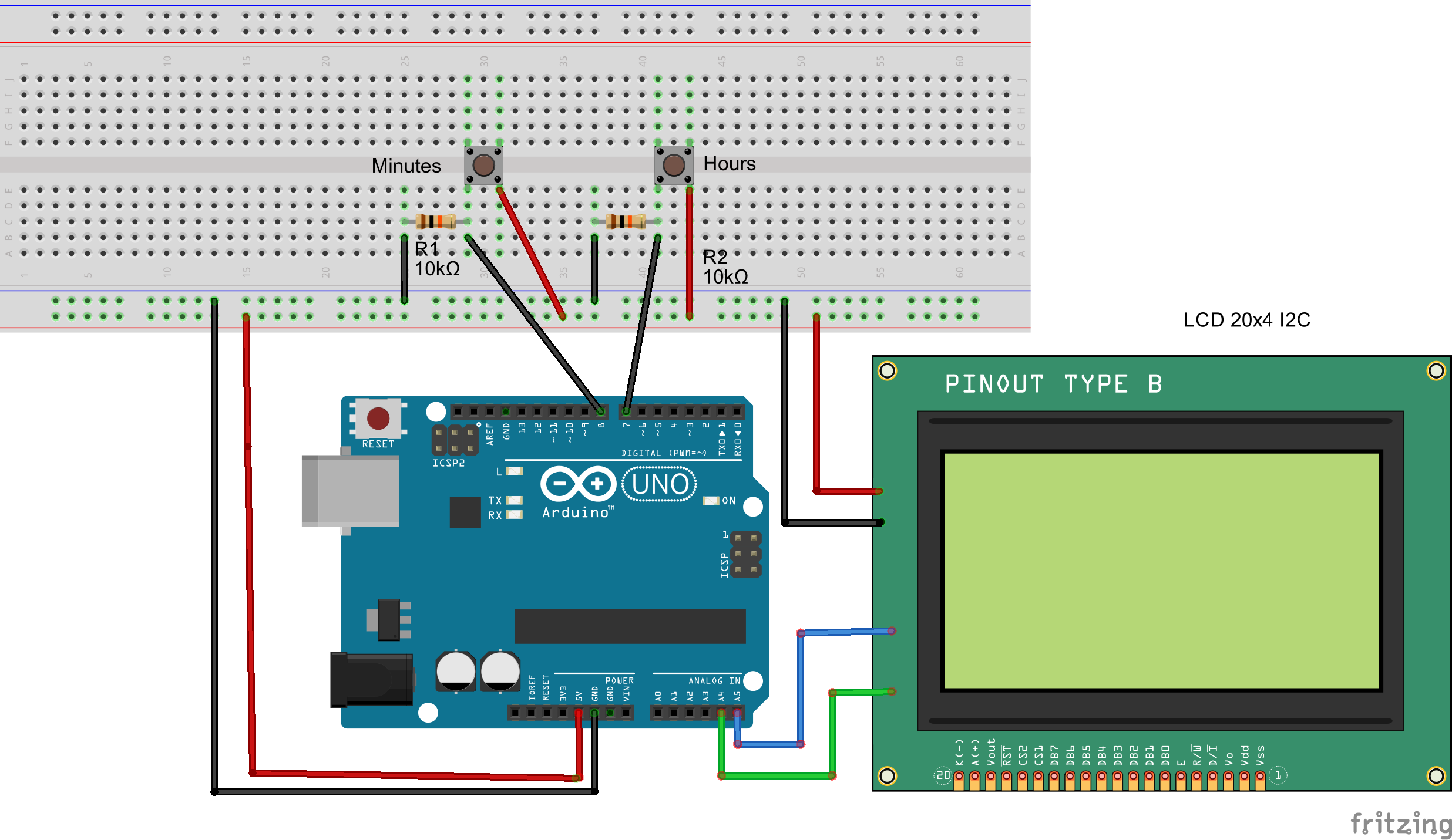 How to make a clock with an arduino and millis function